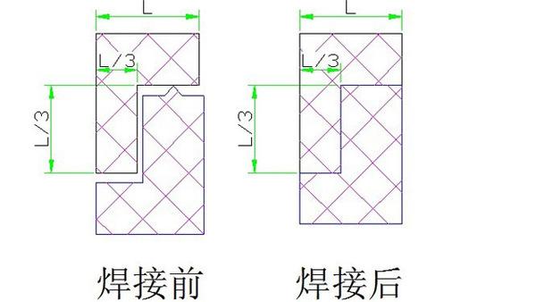 超聲波焊接前后對比