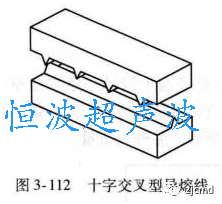 十字交叉型超声波熔接线
