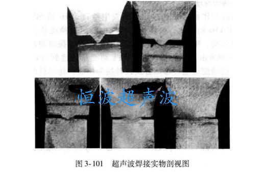 超聲波焊接塑膠熔化過程剖視圖