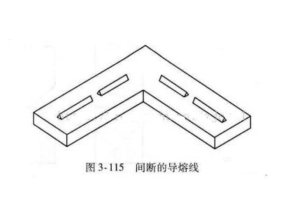 间断型超声波焊接线