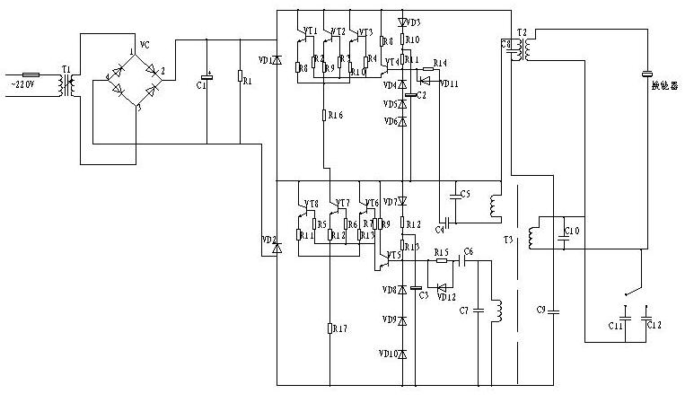 超聲波焊接電路圖,超聲波發生器電路圖