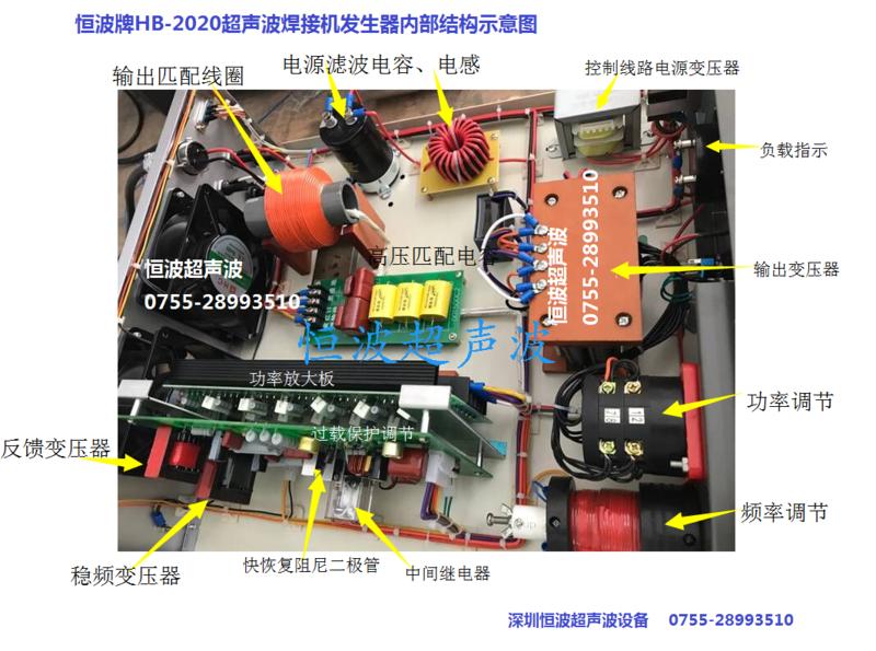 恒波2000W超聲波焊接機發生器內部結構圖